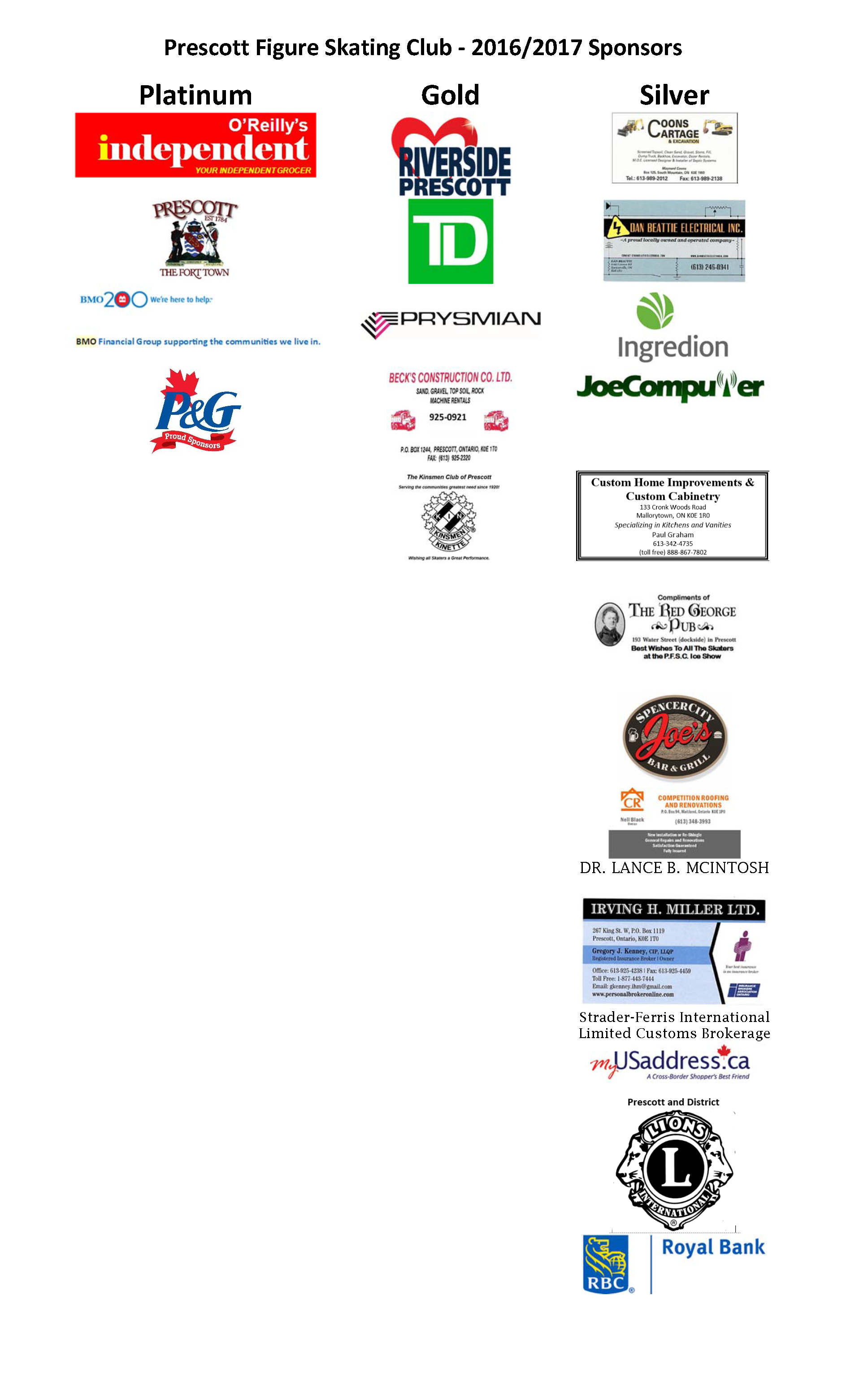 Prescott Figure Skating Club_2016_2017 sponsors